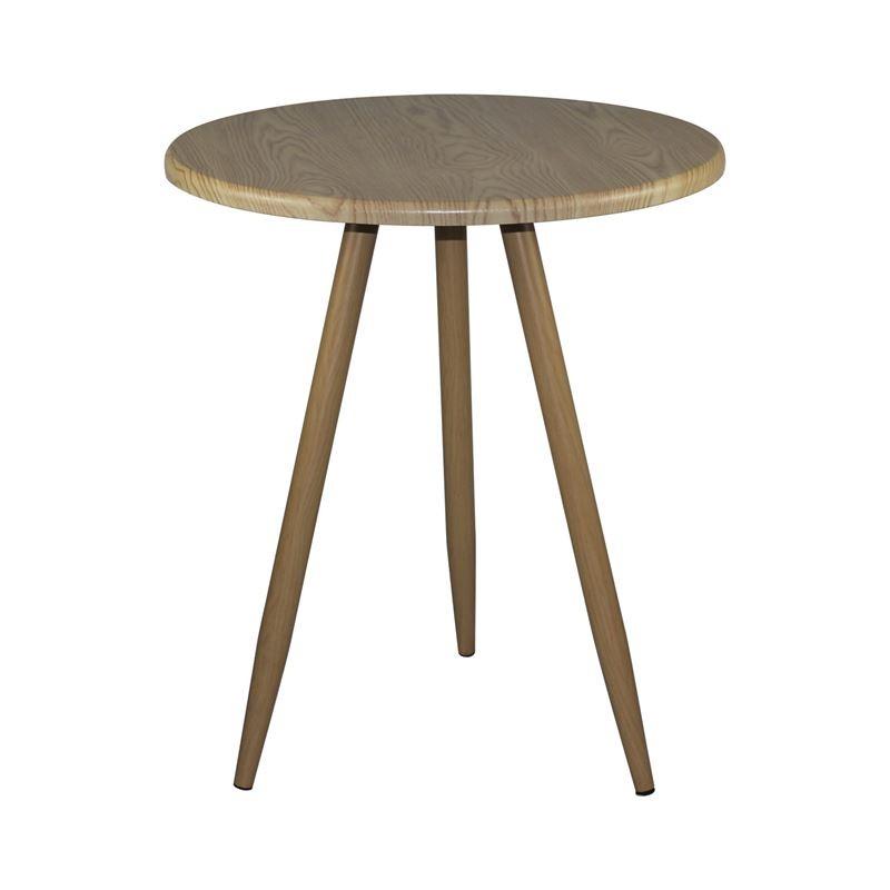 NATURALE Steel Τραπέζι Φ60cm Φυσικό