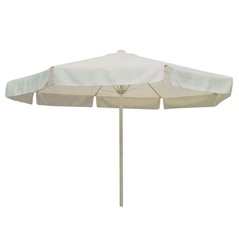 Ομπρέλα σιδερένια στρογγυλή 2,30μ με διαιρ/νο σωλήνα, χρ. εκρού HOMEPLUS 01.02.0842