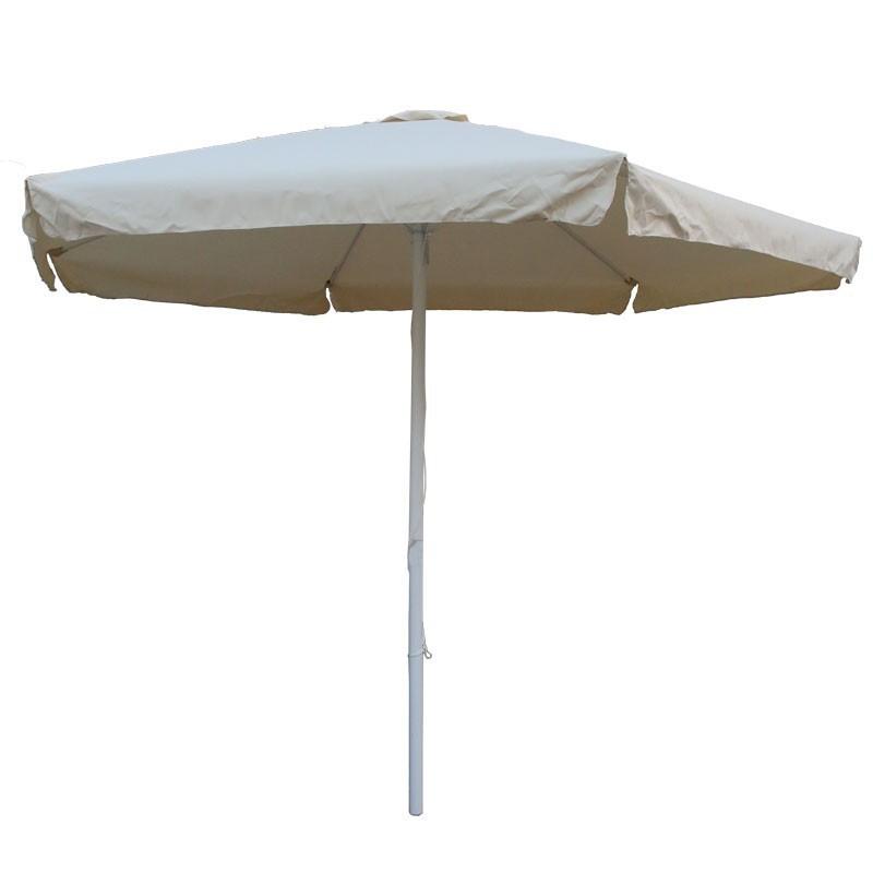 Ομπρέλα αλουμινίου 3μ στρογγυλή με αδιάβροχο ύφασμα χρ. εκρού, HOME PLUS 01.02.0843