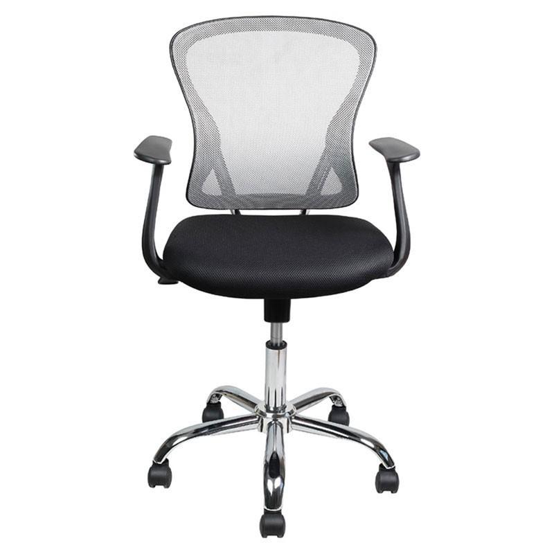 Καρέκλα γραφείου με μπράτσα & δίχτυ χρ. γκρι 093-27-094 FYLLIANA