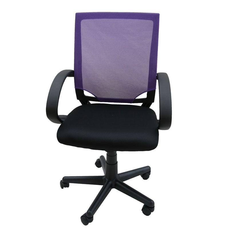 Καρέκλα γραφείου εργασίας με δίχτυ χρ. μωβ Home Plus 01.01.0939