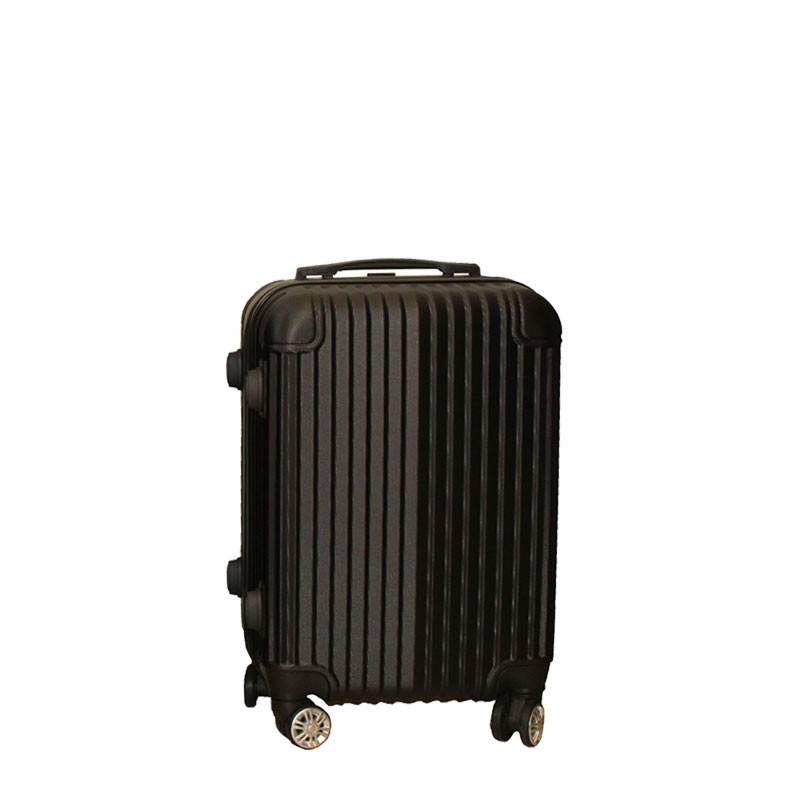 Βαλίτσα τρόλλεϋ με σκληρό εξωτερικό σκελετό και κλειδαριά ασφαλείας, χρ. μαύρο, 51x33x21εκ.
