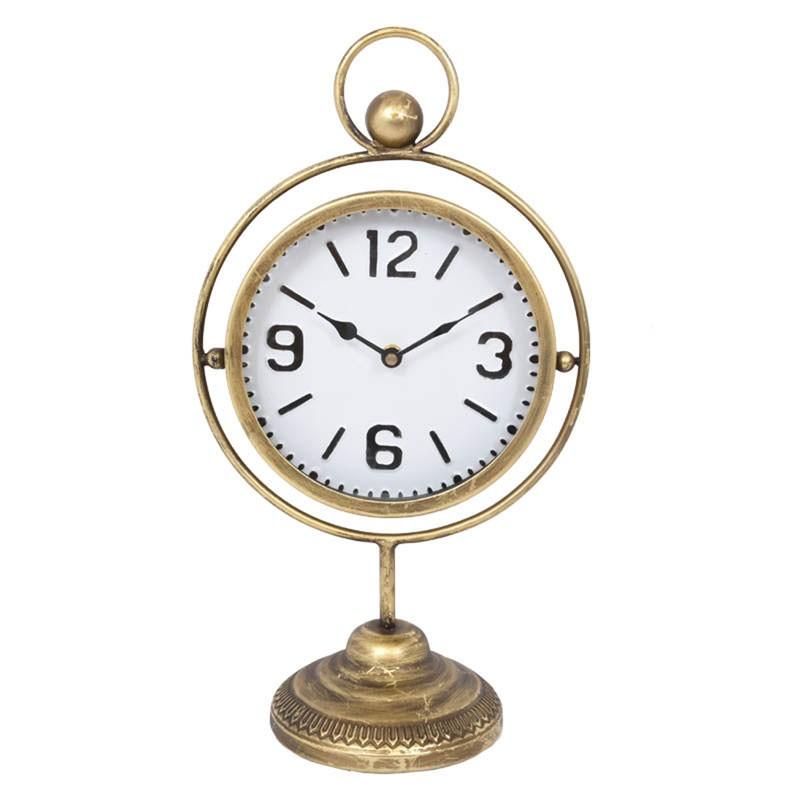 Επιτραπέζιο ρολόι σε stand, χρ. μπρονζέ, 24x15x44εκ.