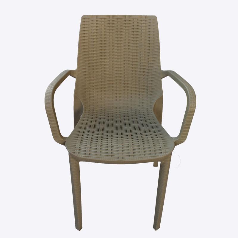 Καρέκλα με μπράτσα NIRVANA πλαστική, χρ. μπεζ, HOMEPLUS 07.02.0030