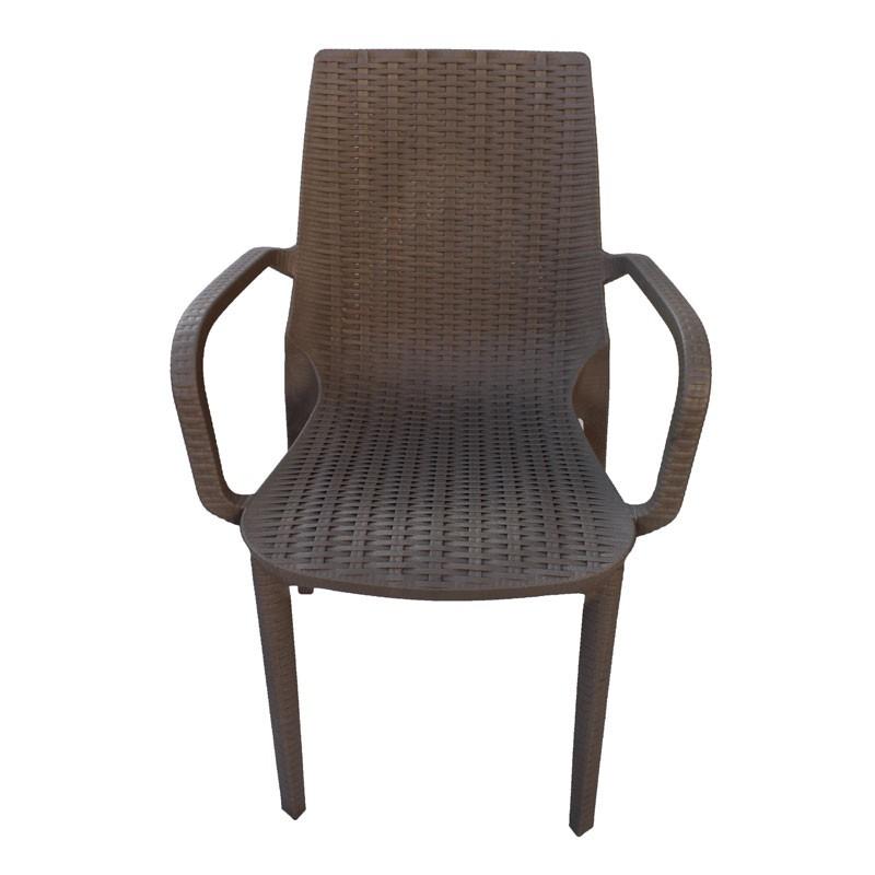 Καρέκλα με μπράτσα NIRVANA πλαστική, χρ. cappuccino, HOMEPLUS 07.02.0039
