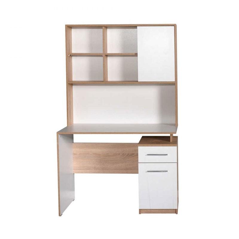 Γραφείο εργασίας χρ. sonoma με λευκό high gloss 105x56x170εκ.