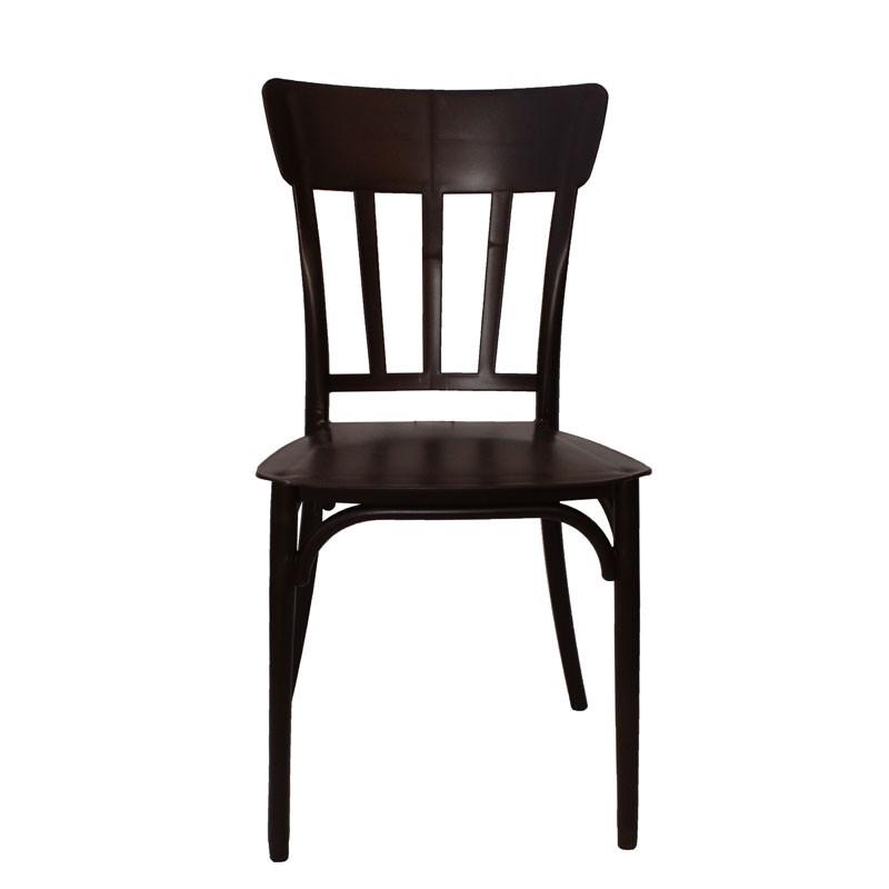 Καρέκλα χωρίς μπράτσα πλαστική MINA χρ. σκ. καφέ HOMEPLUS 07.02.0031
