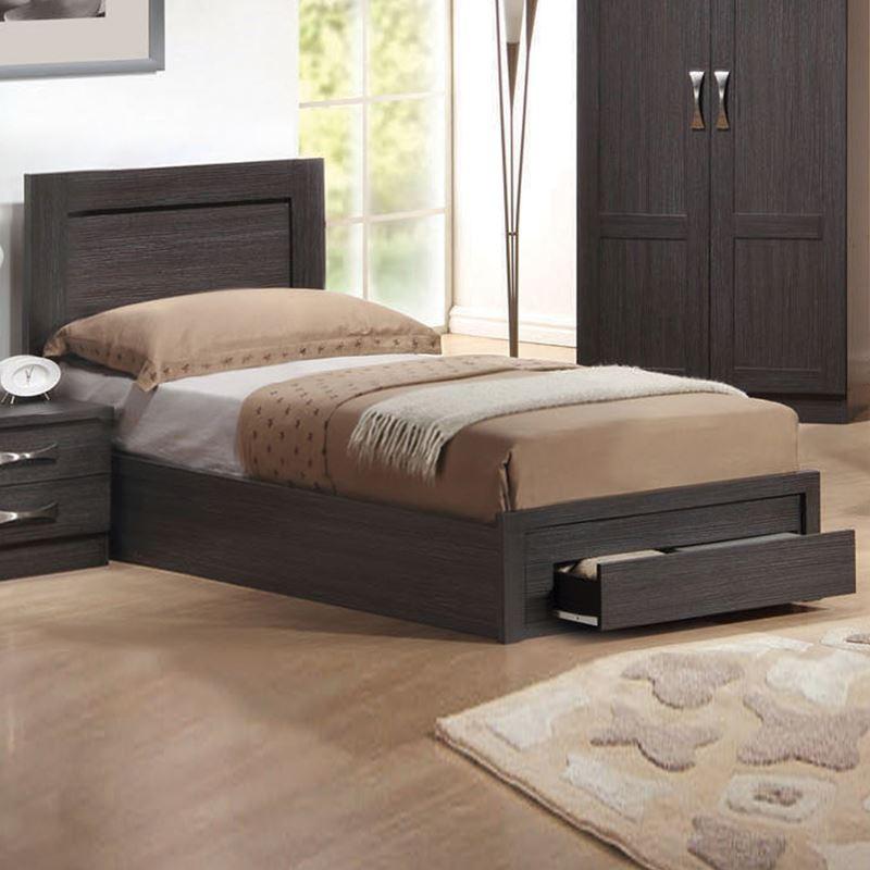LIFE Κρεβάτι-Συρτάρι (για στρώμα 90x190) Zebrano