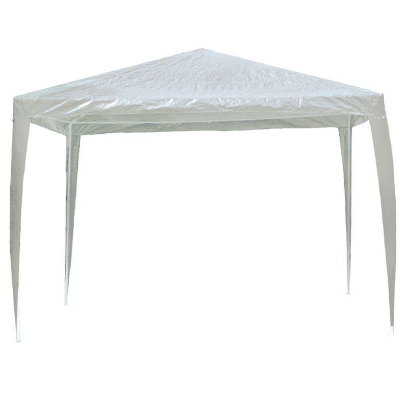 GAZEBO Πτυσ/νο 3x3m Μεταλλικό Άσπρο/Pe Άσπρο